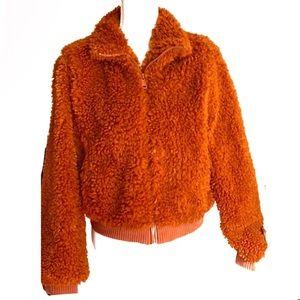 Love Tree: Rust / burnt Orange Teddy jacket